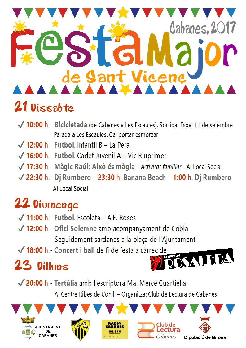 2017 FESTA MAJOR ST VICENÇ
